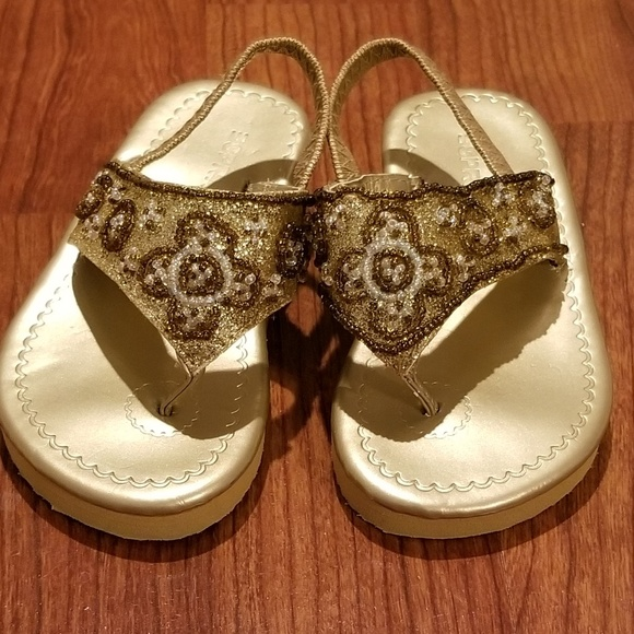 Esprit Other - NEW little girls ESPRIT gold beaded sandals